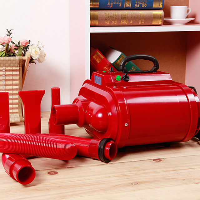Hair Dryer Motors 2016 New High-power Pet Dog Hair Dryer Red Grooming Blower For Medium Large Dogs 220v/110v Dual Voltage 2800w