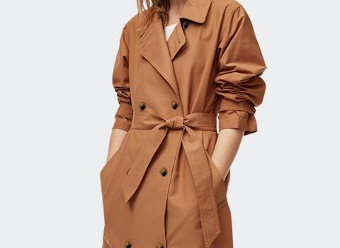 Lâche Avec Manteau Longues 2019 Double Noir Femmes Manches Mode kaki Grande breasted Nouvelle Chaude Cravate À S 6xl Printemps Taille camel Trench 7Fqn6wzU