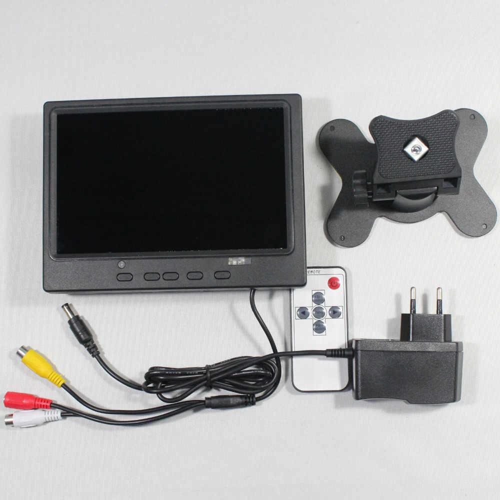 7inch Lcd monitor 800x480 mit HDMI + VGA + AV + Rückfahr mit Europa netzteil für bus monitor VS-T0701ERB-V1