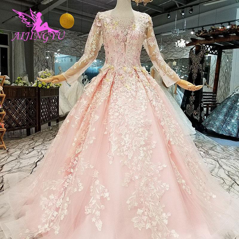 AIJINGYU Lace Ball Gown Dubai Wedding Dresses New 2018