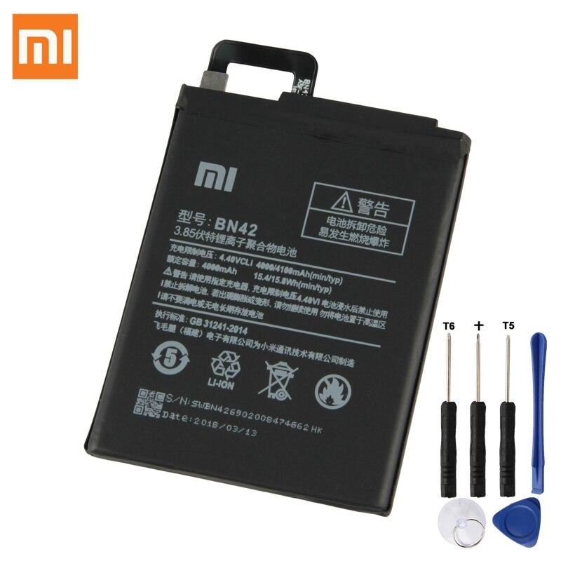 XiaoMi Batterie D'origine BN42 Pour Xiaomi Redmi 4 Hongmi4 Redrice Standard configuration Authentique Téléphone Batterie 4000 mAh
