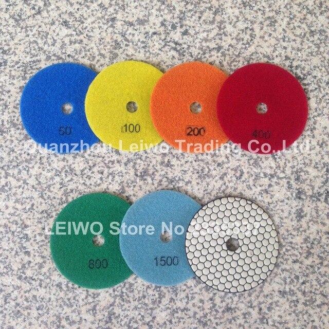 Premium Dry Diamond Polishing Pads 125 Mm Granite Marble Countertop  Polishing Disc Nylon Cloth Sanding Pads