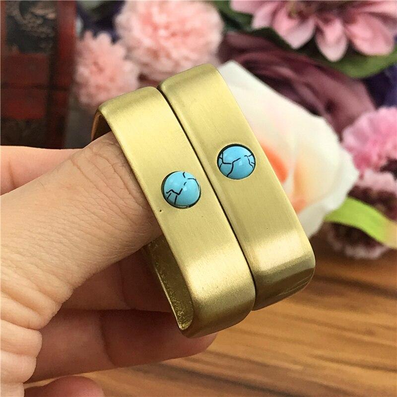 Solid Brass Belt Buckle Loop For Men Belt Luxury DIY Leather Craft Hardware Metal Accessories For Leather Belt Men BL0004