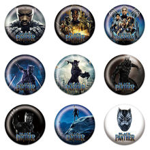9 Pcs/set Black Panther Karakter Lencana Diseduh Sendiri Pin Lencana 30 Mm Putaran Badge/Tas Aksesoris Kerajinan Kid pesta Hadiah(China)