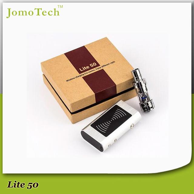 2016 JomoTech patentado 4 Color Mod mecánica 50 W caja Mod VW 1 - 50 W ecig Mod Kit con 5 ml tanque de vidrio + cargador + caja de regalo Jomo-38