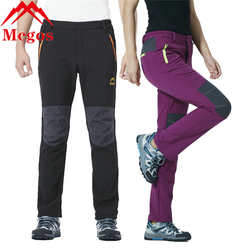 Waterproof Soft Shell Winter Hiking Pants Men Women Camping Trekking Thermal Fleece Lining Warm Ski Trousers Polartec Pants ...