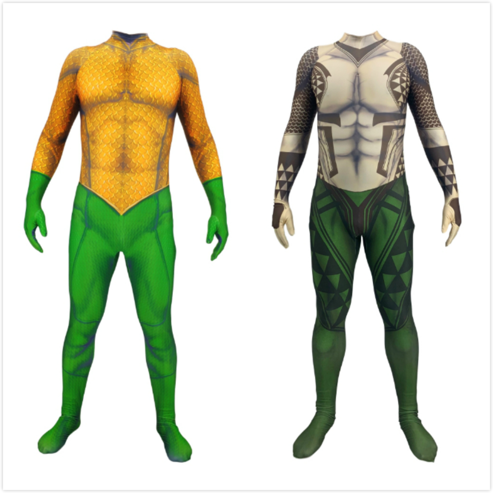Aquaman Cosplay Costume Superhero Arthur Curry Orin Zentai Bodysuit Suit Jumpsuits costume