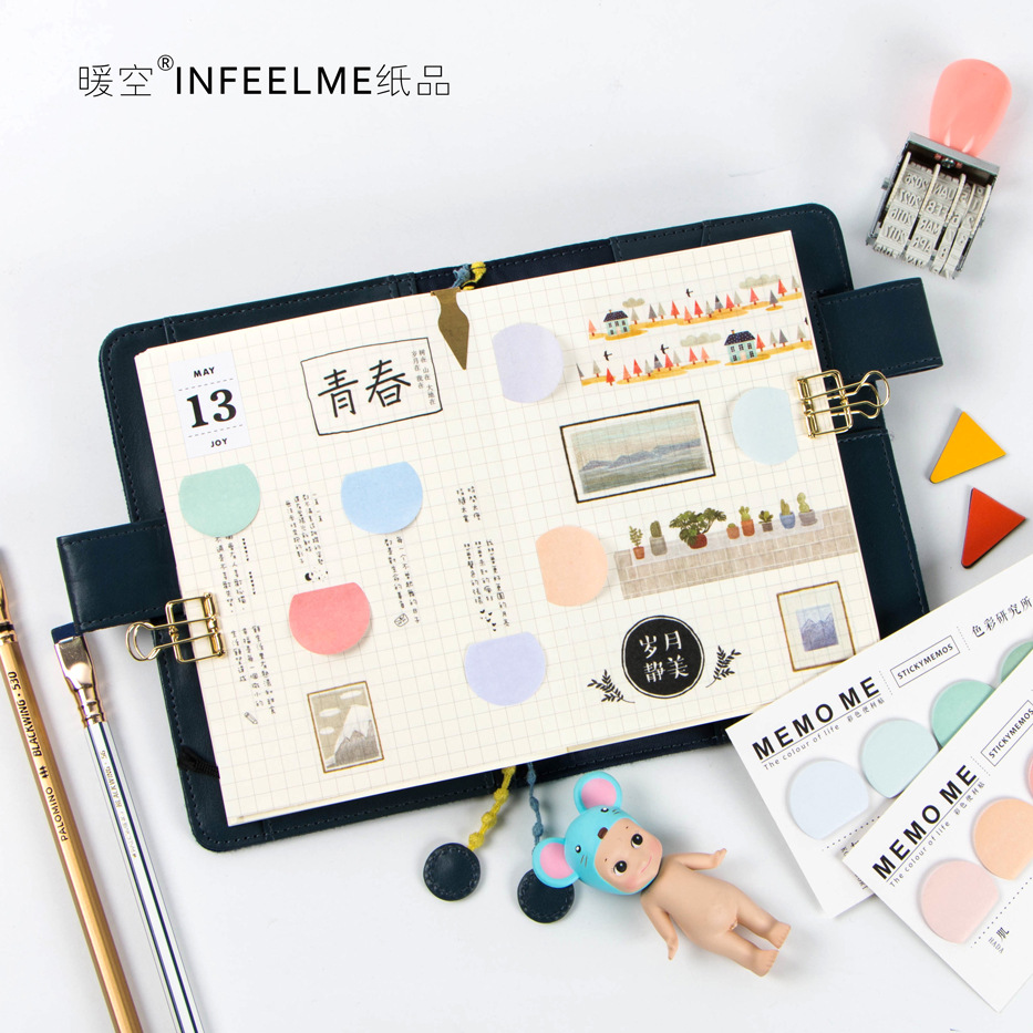1set Index Paper Sticker for Notebook Diary Note Cute Sticky Note post it Memo Pad for School & Office Supplies random