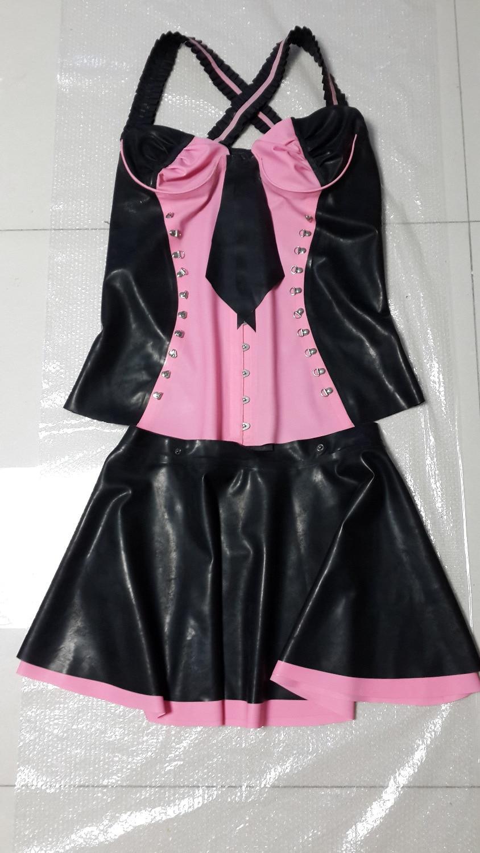 Robe d'été Discothèque Partie Latex Serré Maigre Robe Sexy Costume Fantaisie Costume Set de Haute Qualité Robes Plus La Taille Vente Chaude