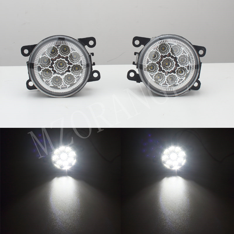 6000K 12V car-styling DRL For Peugeot 207 307 407 607 3008 SW CC VAN 2000-2013 Fog Lamps lighting LED Lights 9W /1 SET front fog lights for peugeot 207 307 407 607 3008 sw auto right left lamp car styling h11 halogen light 12v 55w bulb assembly