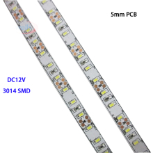5M DC12V High Bright 5mm PCB  3014 SMD 120leds/M LED Strip tape Natural White/White/warm white/Red/blue/Green/Yellow