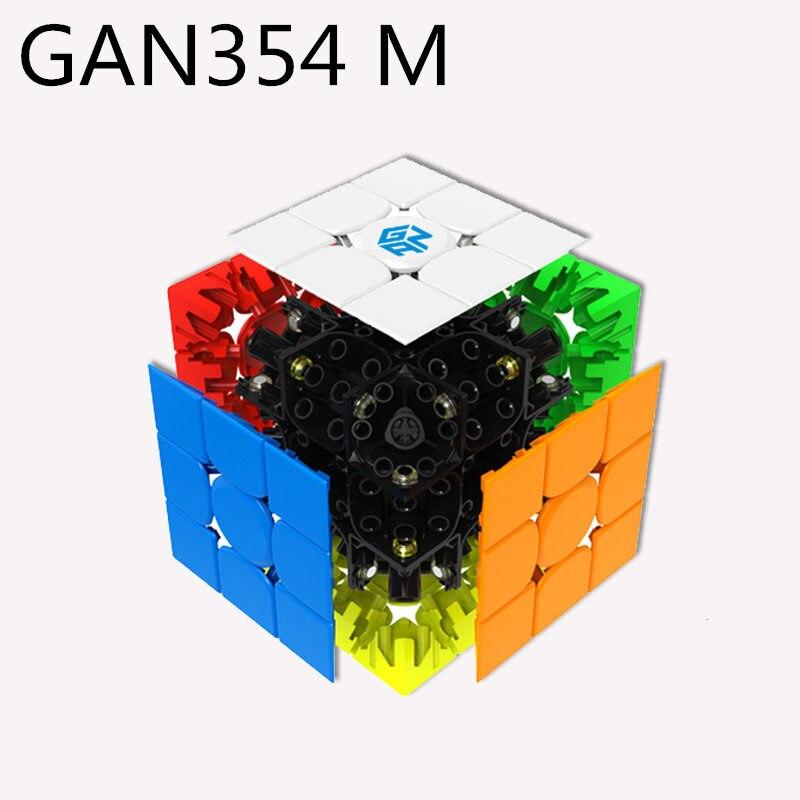Gan 354 m Magnétique puzzle magic speed cube 3x3 autocollant moins professionnel Gan354 aimants vitesse cubo magico 354 m jouets pour enfants - 5