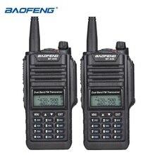 2 pçs original baofeng BF A58 ip67 marinha à prova dip67 água walkie talkie banda dupla woki toki rádio em dois sentidos amador UV 9R hf transceptor