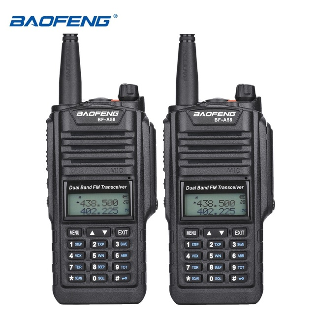 2pcs Original Baofeng BF A58  IP67 Marine Waterproof Walkie Talkie Dual Band Woki Toki Two Way Radio Amador UV 9R Hf Transceiver