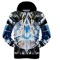 High-quality baseball clothing 3D three-dimensional printing long-sleeved boy sweater hip-hop clothes 12-18 years old