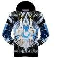 Ropa de béisbol de alta calidad 3D tridimensional de impresión de manga larga suéter chico hip-hop ropa 12-18 años de edad