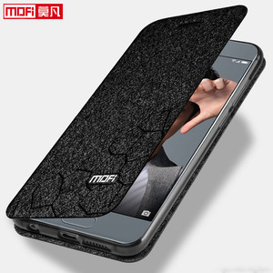 Image 3 - flip case for Huawei honor 9 case stand Honor 9 Cover leather back silicon book Mofi glitter luxury huawei honor 9 case business