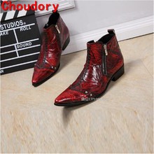 British style mens waterproof winter boots spring autumn military boots red black western cowboy boots dress wedding shoes