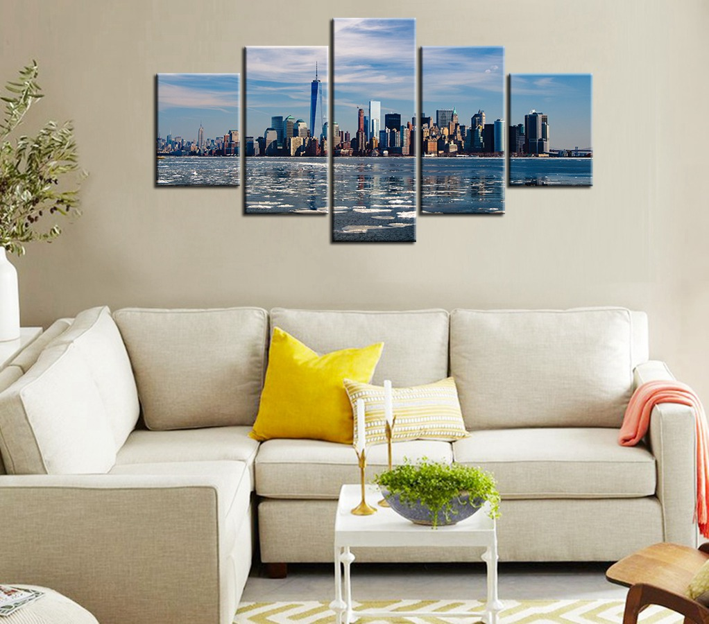 Wall Art New York City Landscape Canvas Printed Modern