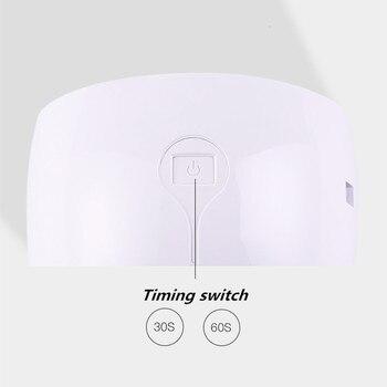 110V-220V 35w EU plug nail dryer led lamp light 180 degree nail polish uv cure machine for Gel Nail Art Lamp Dryer Tools 4