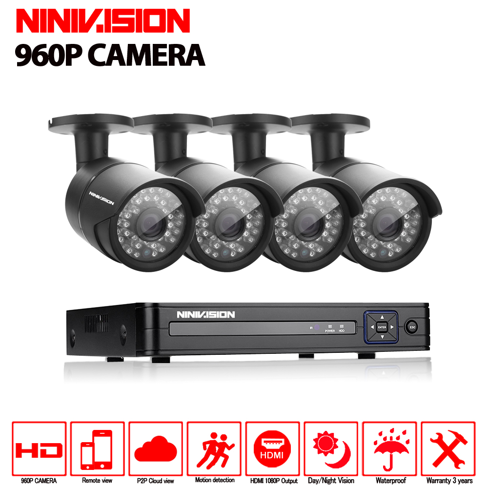 HD 2500TVL Outdoor Security Camera System 1080P HDMI 4CH AHD Hybrid DVR Kit AHD Camera Set Waterproof 960P AHD camera system