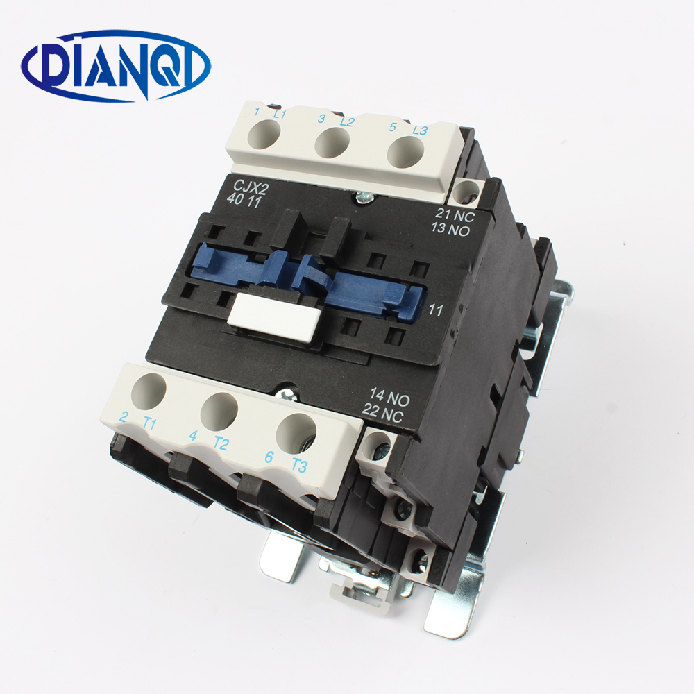 Motor Starter Relay contactor CJX2-4011 AC 24V 36V 48V 110V 220V 380V Voltage optional LC1 D lc1 4011 220v 40A free shipping 1pc high quality 100a mager ssr mgr 3 032 38100z dc ac three phase solid state relay dc control ac 100a 380v