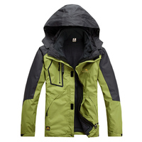 Men Outdoor Hunting Camping Waterproof Coats Jacket Outerwear Hoodie Army Green S M L XL XXL