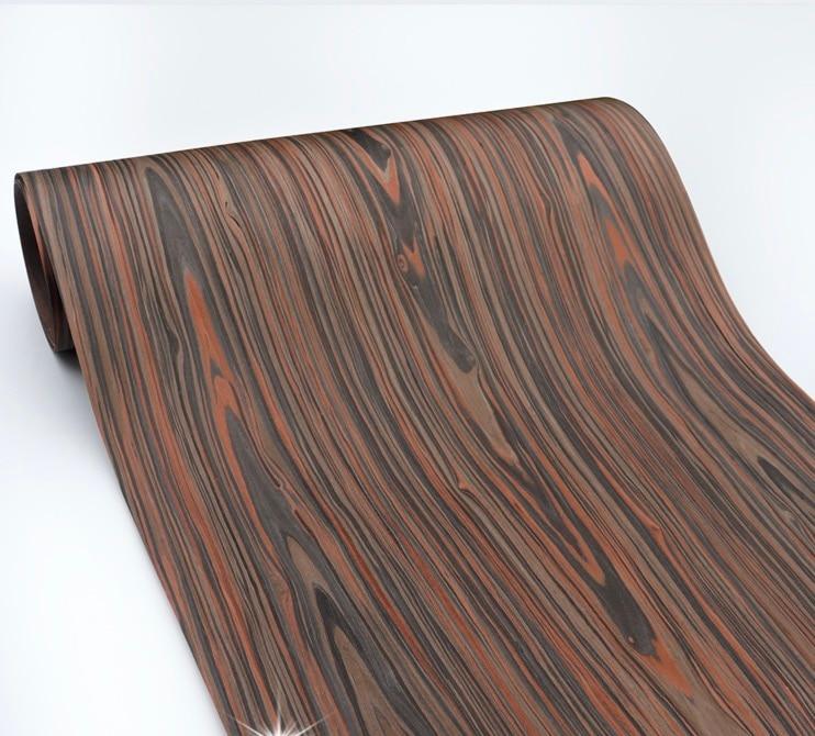 Length: 2.5Meters  Thickness:0.3mm  Width: 55cm Technological Wood Bark Black Cedar Wood Veneer