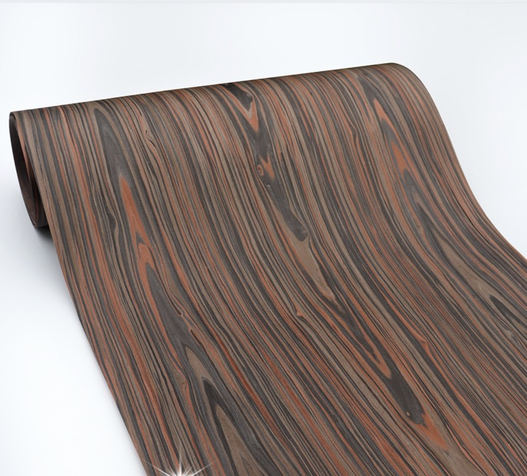 Length: 2.5Meters  Thickness:0.3mm  Width: 60cm Technological Wood Bark Black Cedar Wood Veneer