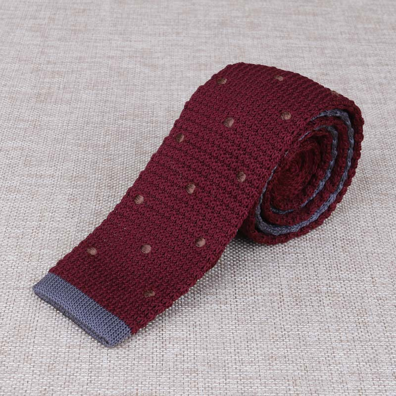 5cm Korean Mens Knitting Neck Ties Clothes Accessory Formal Wear Business Suits Knitted Narrow Slim Ties For Men