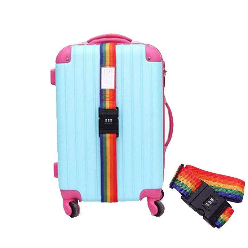 Travel Suitcase Safety Rope Luggage Strap Adjustable Password Lock Packing Belt Baggage Secure Lock Anti-theft Bundling Belt