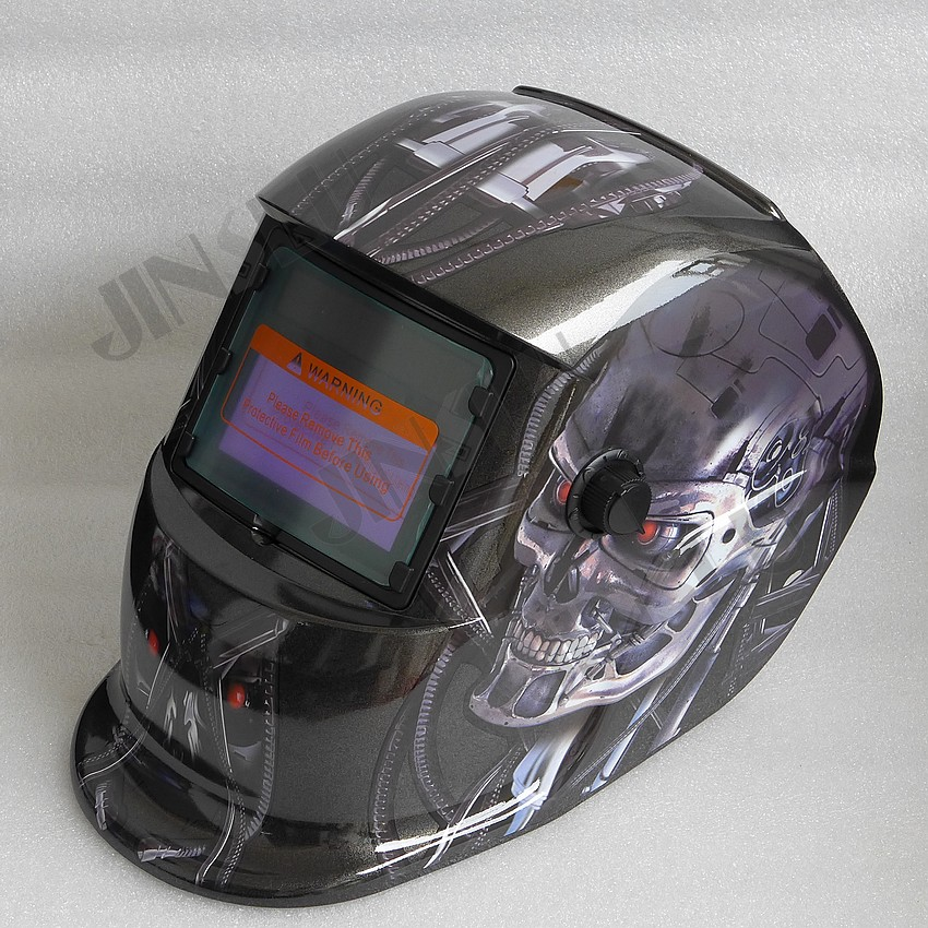 2 in 1 Grind and Weld Welding Helmet Solar Auto Darkening Welding Mask Welding Glass Welder Cap TIG MIG MAG MMA Welder Skull welder helmet mag tig grinding function polished chrome for free post