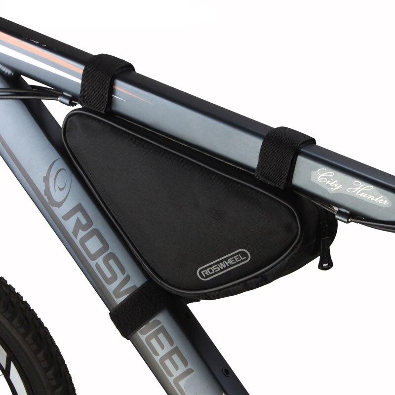 e7b61b7609f Bolso de bicicleta Roswheel MTB Triangle Bycicle bicicleta marco delantero  tubo bolsa de accesorios de bicicleta de montaña bolsa de ciclismo Panniers  cesta ...