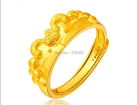 New Solid 24K Yellow Gold Ring / Craved Men&Women Goat Ring/Us Size:4 10