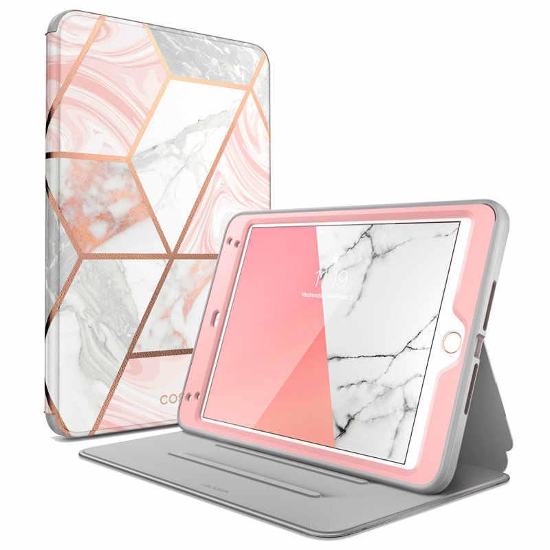 Capa protetora para ipad mini 4 5, case de proteção, com suporte de corpo inteiro, dobrável, para repouso automático/wake & protetor de tela embutido