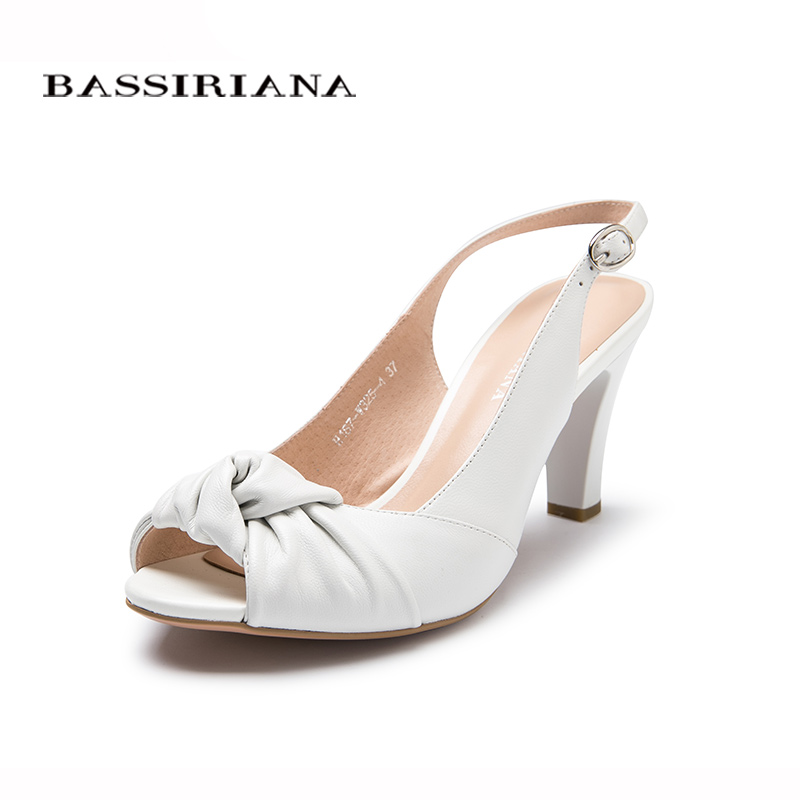Sandals Classics Basic Genuine leather Buckle Strap 35-40 Black White Open Toe Heels shoes woman Free shipping BASSIRIANA bronze silver gold buckles shoes slippers sandals shoes strap laces clothing bag 8mm belts buckle clip 500pcs lot free shipping