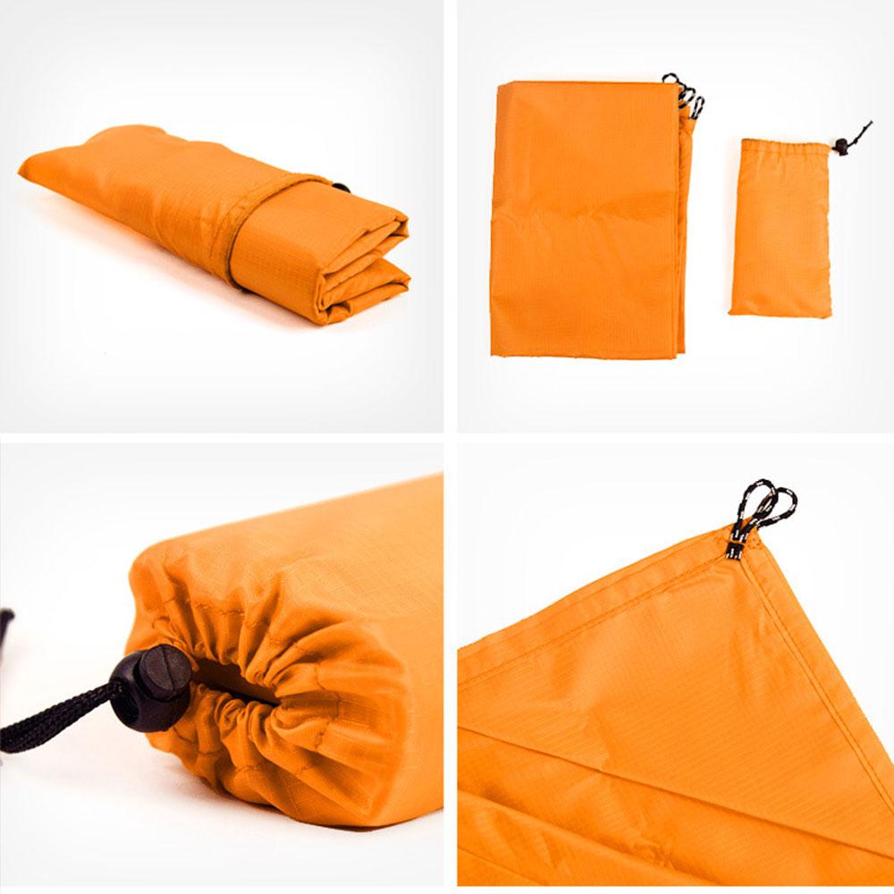 5 цветов Ткань Оксфорд многофункциональный дорожный тент навес пляжный коврик практичная палатка ткань прочная походная ткань на открытом воздухе - Цвет: orange