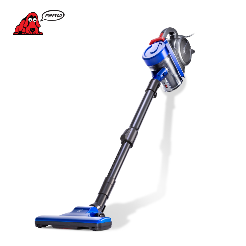PUPPYOO Low Noise Home Rod Vacuum Cleaner Handheld Dust Collector household Aspirator Black&Blue WP3009 puppyoo low noise home rod vacuum cleaner handheld dust collector household aspirator white