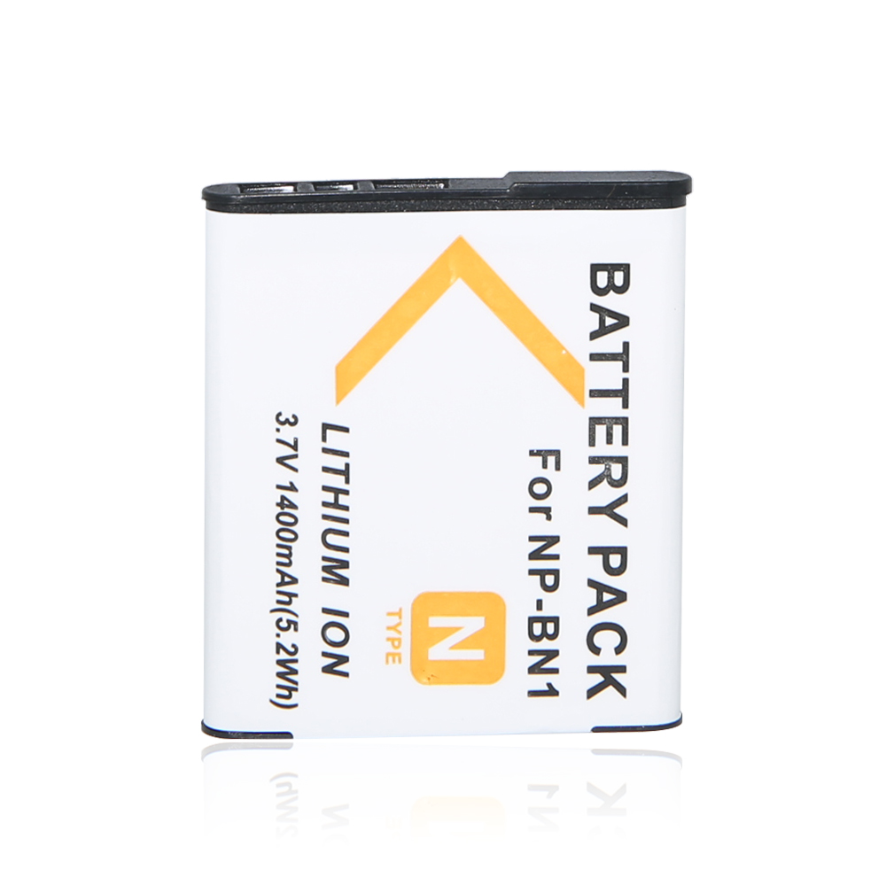 AOPULY 1 Pcs 1400mAh NPBN1 NP-BN1 BN1 NP-BN Camera Battery for <font><b>Sony</b></font> QX100 TF1 TX7 <font><b>DSC</b></font>-<font><b>W320</b></font>/330/350/360/370/380/W730/W150 PM001 image