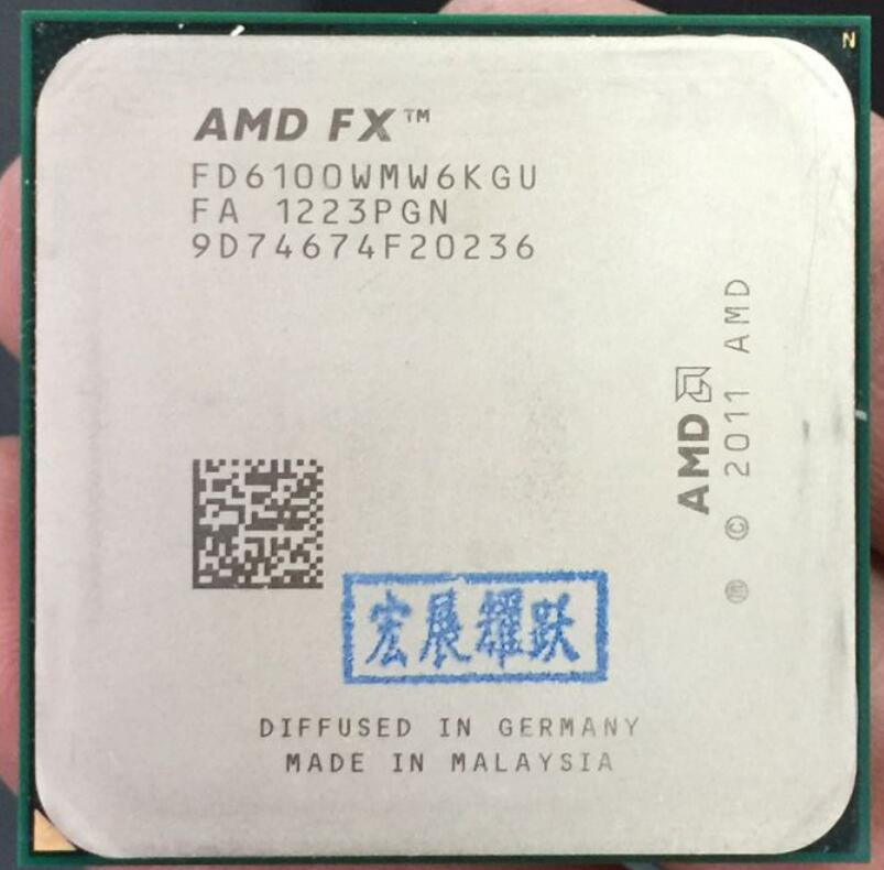 AMD FX-Series FX-6100 AMD FX 6100 Six Core AM3+ CPU Stronger than FX6100 FX 6100100% working properly Desktop Processor