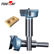 Tideway 12mm-65mm Forstner Drill Bits Tips Woodworking Tools Hole Saw Cutter Hinge Boring Round Shank Tungsten Carbide