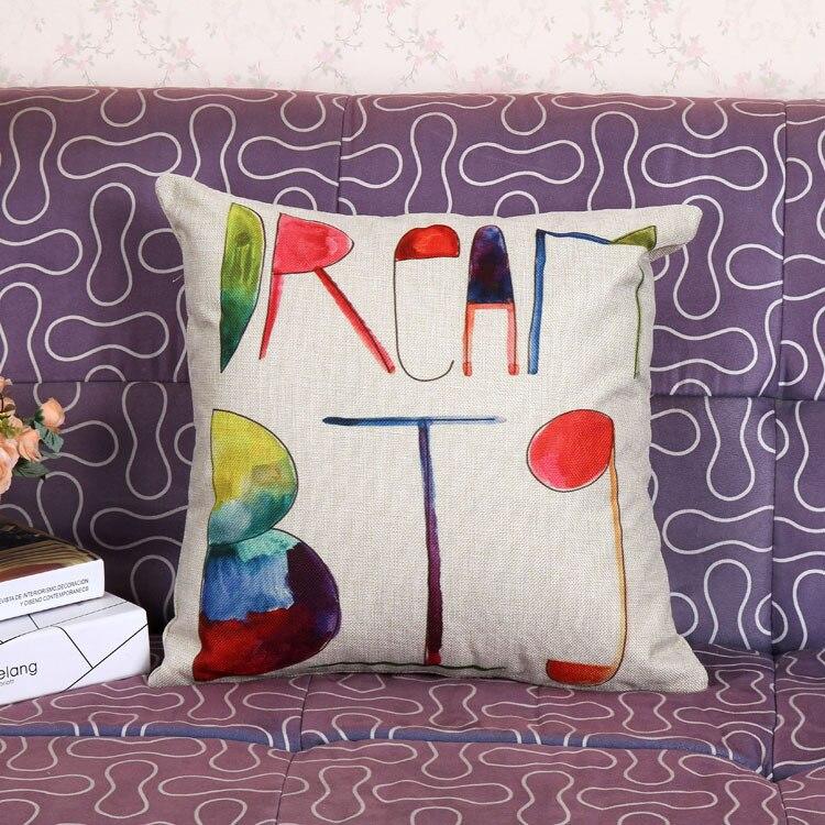다채로운 꿈 큰 홈 장식 리넨 코튼 혼합 쿠션 던져 베개 케이스 쿠션 케이스 베개 커버
