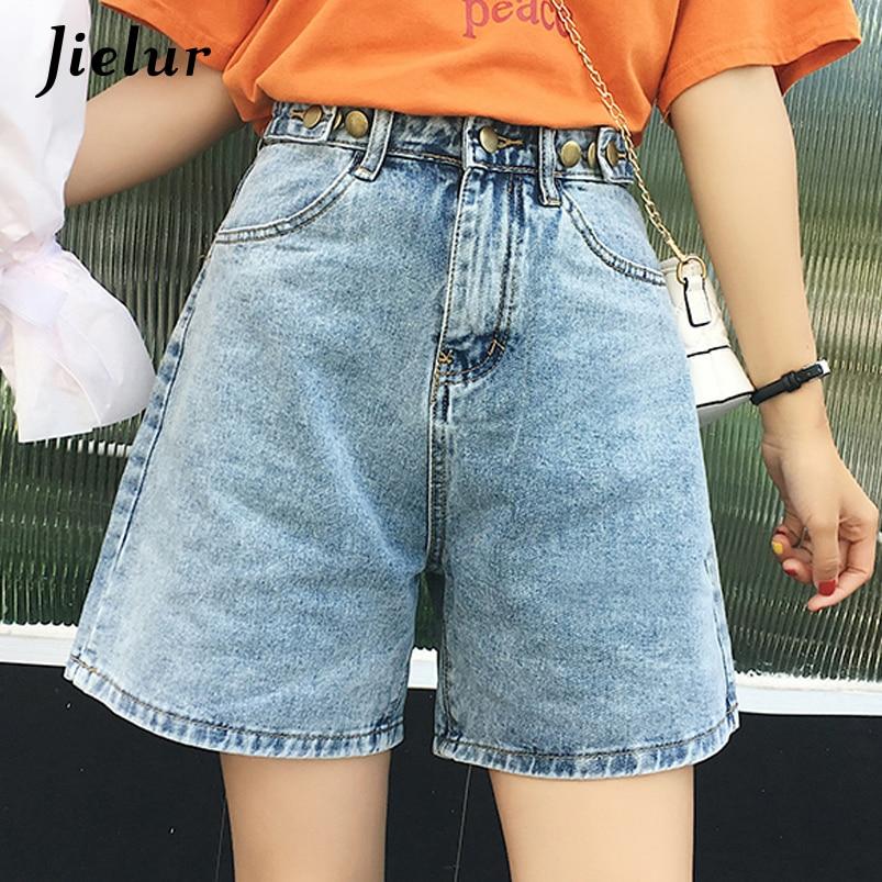 Jielur Short Jeans Women Solid Color 2019 Summer New Jean Femme Korean Style Fashion Feminino Trousers High Waist Denim Shorts