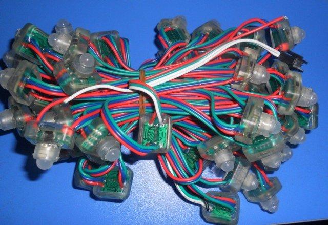 4096 scale,led pixel module, TLS3001IC,DC5V input,IP68;50pcs a string