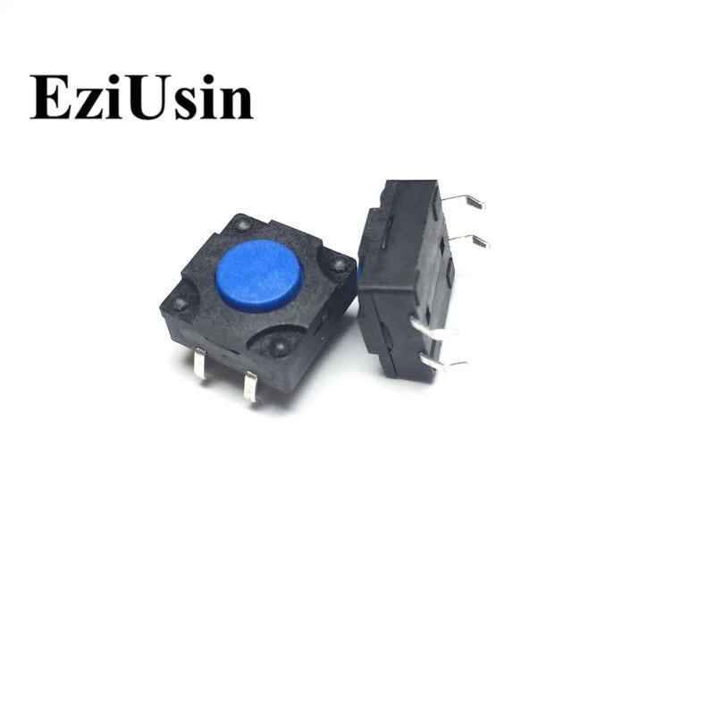 EziUsin 100pcs 12*12*6 Waterproof 4 Pins DIP Interrupteur PCB Keyboard Touch Micro Switch Mini Blue Button Keys DIY For Maker