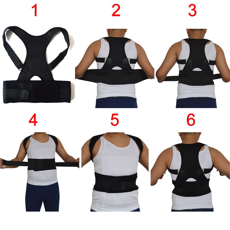 Men Women Shoulder Back Lumbar Support Belt Braces&Supports Belt Shoulder Therapy Strap Posture Corrector Brace Corset Plus Size