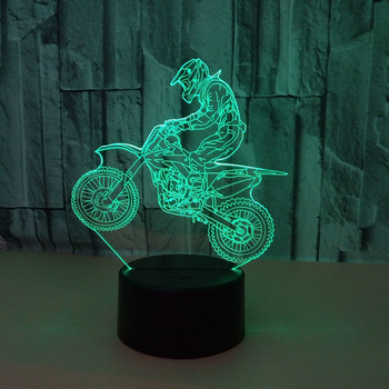 Valentines day gift 7 Color change 3D Hologram ride motorcycle Lamp Lights party favor anniversary gift for boyfriend present 1