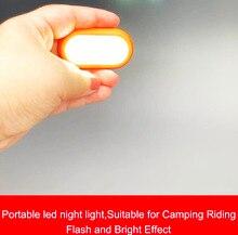 Highlight Led Night Light Portable Lamp Flashing Warning Lamp Mini Push Switch Lights for Camping Riding