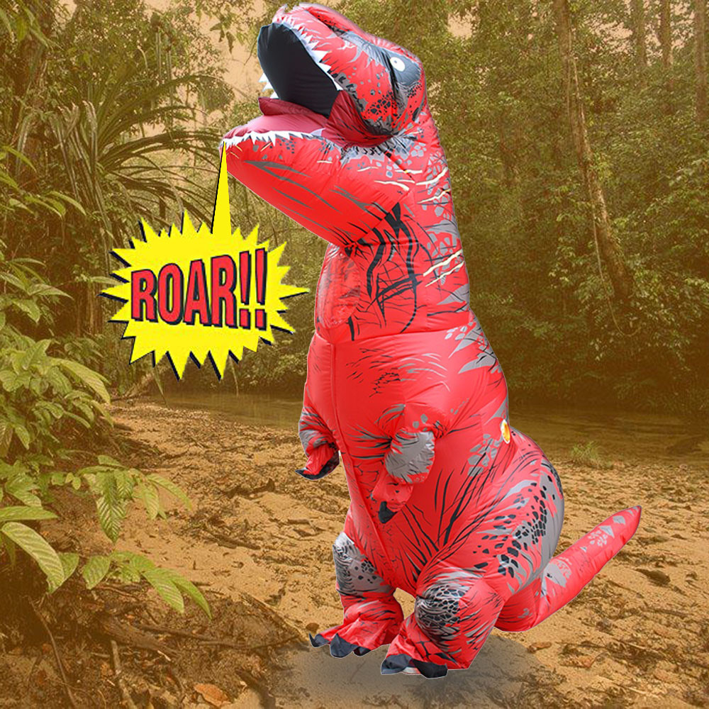 Adult ChildrenToy Inflatable T-Rex Trex Dinosaur Blow Up 220cm quality waterproof polyester Fancy Costume Suit Party Party Toy kids teans giant skeleton inflatable dinosaur costume t rex blow up fancy dress