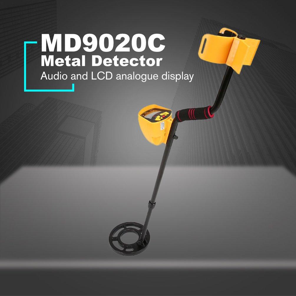 Md9020c profissional detector de metais subterrâneo portátil handheld caçador de tesouros gold digger finder display lcd